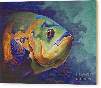 Enchanted Reef Wood Print by Scott Spillman