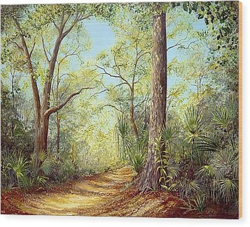 Enchanted Trail Wood Print by AnnaJo Vahle