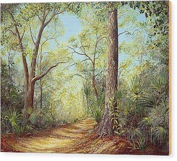 Enchanted Trail Wood Print
