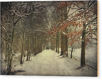 Enchanting Dutch Winter Landscape Wood Print