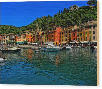 Enchanting Portofino In Ligure Italy I Wood Print by M Bleichner
