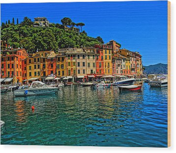 Enchanting Portofino In Ligure Italy II Wood Print by M Bleichner