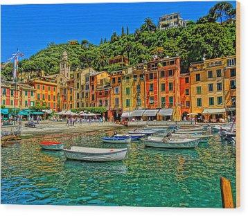 Enchanting Portofino In Ligure Italy IIi Wood Print by M Bleichner