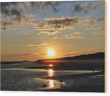 Enchanting Sunset Wood Print by Cindy Croal