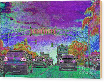 Encinitas California 5d24221m68 Wood Print by Wingsdomain Art and Photography