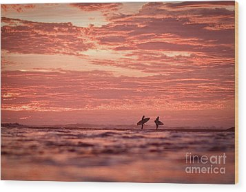 Wood Print featuring the photograph End Of A Perfect Day by Paul Topp
