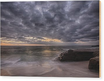 End Of Light Wood Print by Peter Tellone