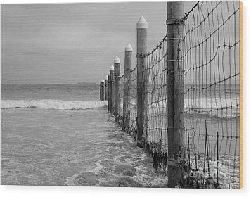 End Of The Beach Wood Print by Tamara Becker