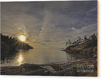 End Of The Day Wood Print by Inge Riis McDonald
