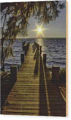 End Of The Day Wood Print by Kathy Ponce