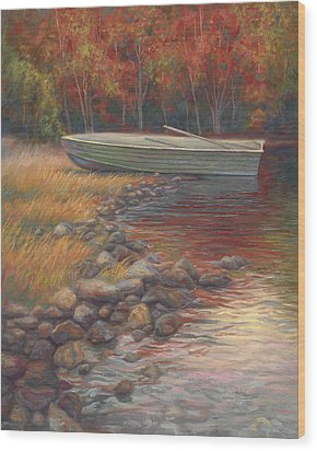 End Of The Day Wood Print by Lucie Bilodeau