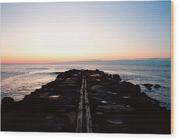 Wood Print featuring the photograph End Of The Road by Jon Emery