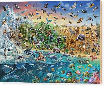 Endangered Species Wood Print by Adrian Chesterman