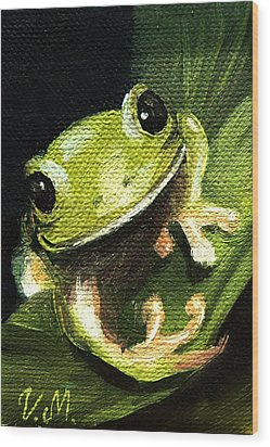 Endangered Tree Frog Wood Print