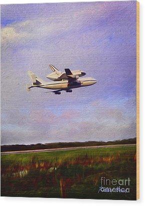 Endeavour The Final Flight Wood Print
