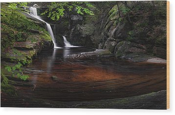 Wood Print featuring the photograph Enders Falls Spring by Bill Wakeley