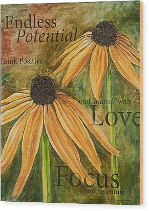 Wood Print featuring the painting Endless Potential by Lisa Fiedler Jaworski