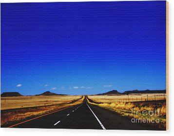 Endless Roads In New Mexico Wood Print by Susanne Van Hulst