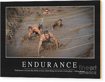 Endurance Inspirational Quote Wood Print by Stocktrek Images