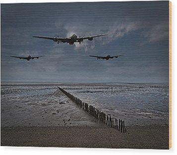 Enemy Coast Ahead Skipper Wood Print by Gary Eason