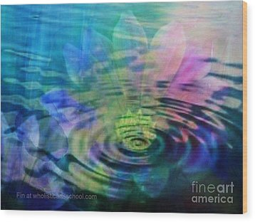 Energy Ripples Wood Print by PainterArtist FIN