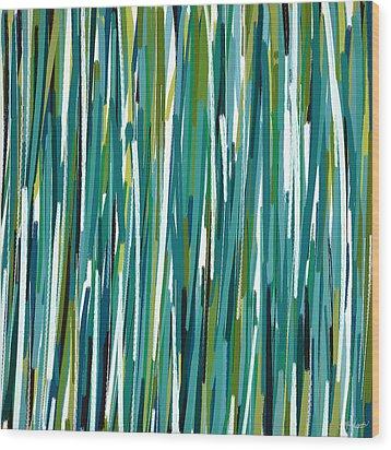 Energy Rises Wood Print by Lourry Legarde