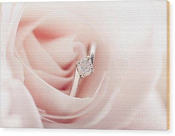 Engagement Ring In Pink Rose Wood Print by Jelena Jovanovic