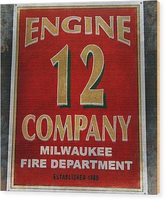 Engine 12 Wood Print
