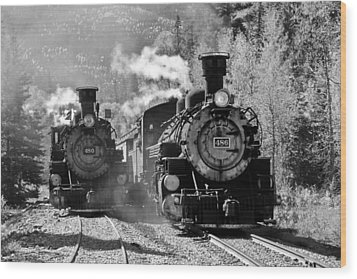 Engines 480 And 486 Wood Print