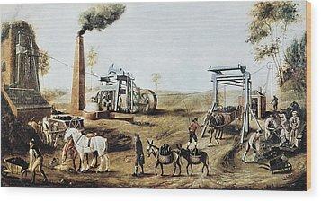 England 18th C.. Industrial Revolution Wood Print by Everett