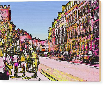 England 1986 Oxford Street Snapshot0145a2 Jgibney The Museum Zazzle Gifts Wood Print by The MUSEUM Artist Series jGibney