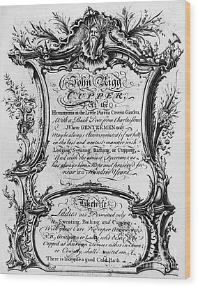 England: Cupper, 1700s Wood Print by Granger