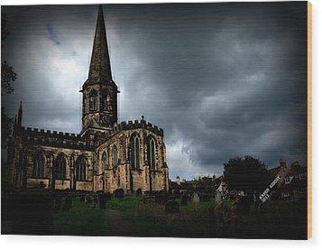 English Church Wood Print