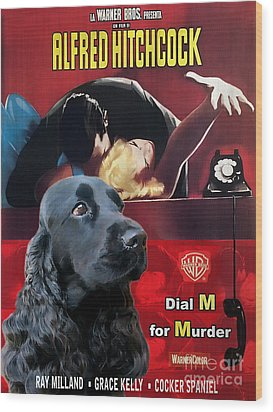 English Cocker Spaniel Art - Dial M For Murder Wood Print
