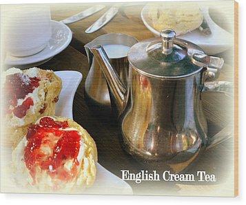 English Cream Tea Wood Print