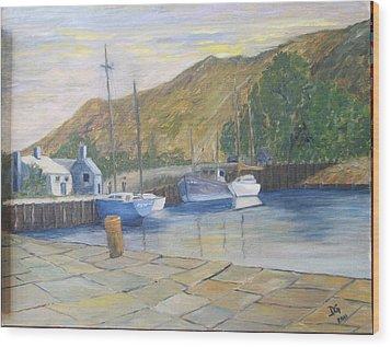 English Harbour Wood Print