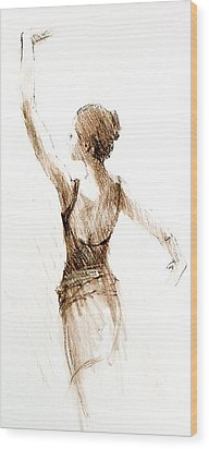 English National Ballet Student Wood Print by Jackie Simmonds