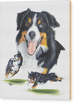 English Shepherd Wood Print