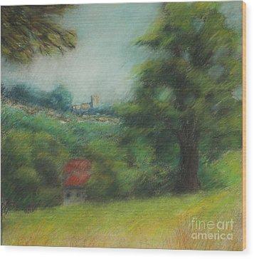 English Summer Landscape  Wood Print by Ewa Hearfield