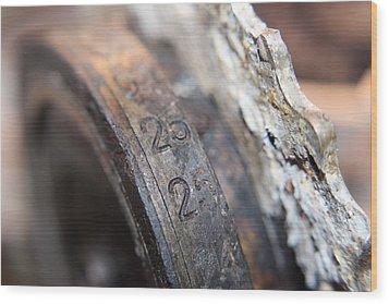 Enigma Rotor Wood Print