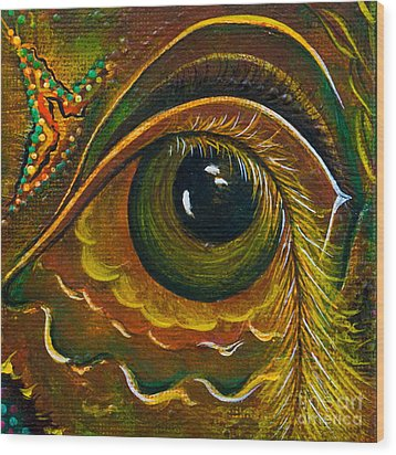 Enigma Spirit Eye Wood Print