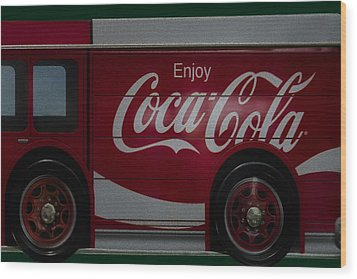 Enjoy Coca Cola Wood Print by Susan Candelario