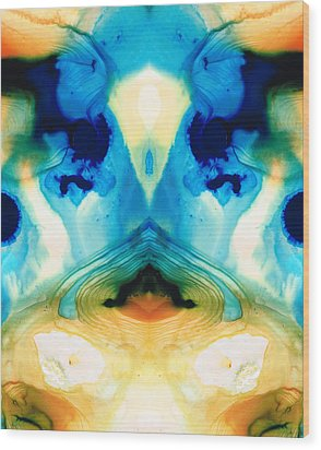 Enlightenment - Abstract Art By Sharon Cummings Wood Print by Sharon Cummings
