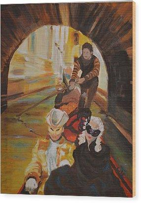 Ennui In Venice Wood Print