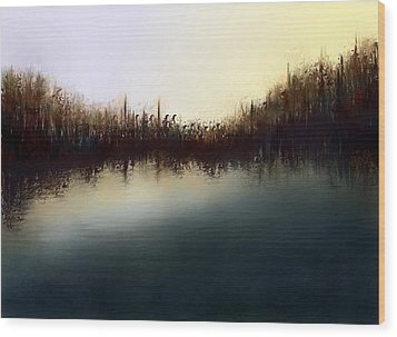Eno's Sunset Wood Print by Shabnam Nassir