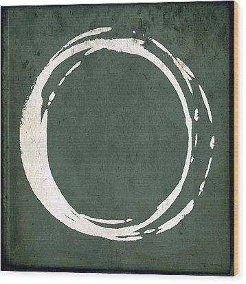 Enso No. 107 Green Wood Print