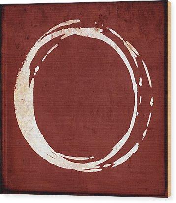 Enso No. 107 Red Wood Print