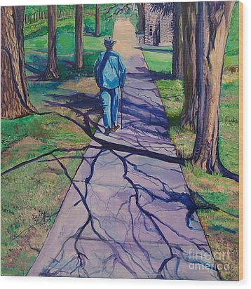 Entanglement On Highway 98' Wood Print by Ecinja Art Works