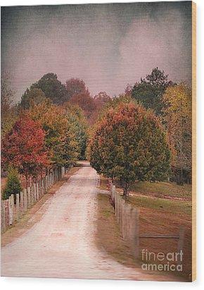 Enter Fall Wood Print by Jai Johnson