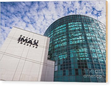 Entergy Imax Theatre In New Orleans Wood Print by Paul Velgos